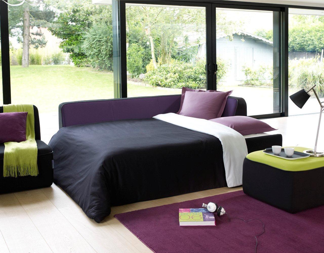 pouf e motion by ora ito 62 x 62 cm noir rouge. Black Bedroom Furniture Sets. Home Design Ideas