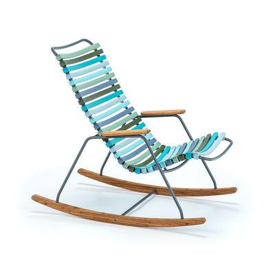 Mobilier - Mobilier Kids - Rocking chair enfant Click / Plastique & bambou - Houe - Multicolore - Bambou, Métal laqué époxy, Plastique
