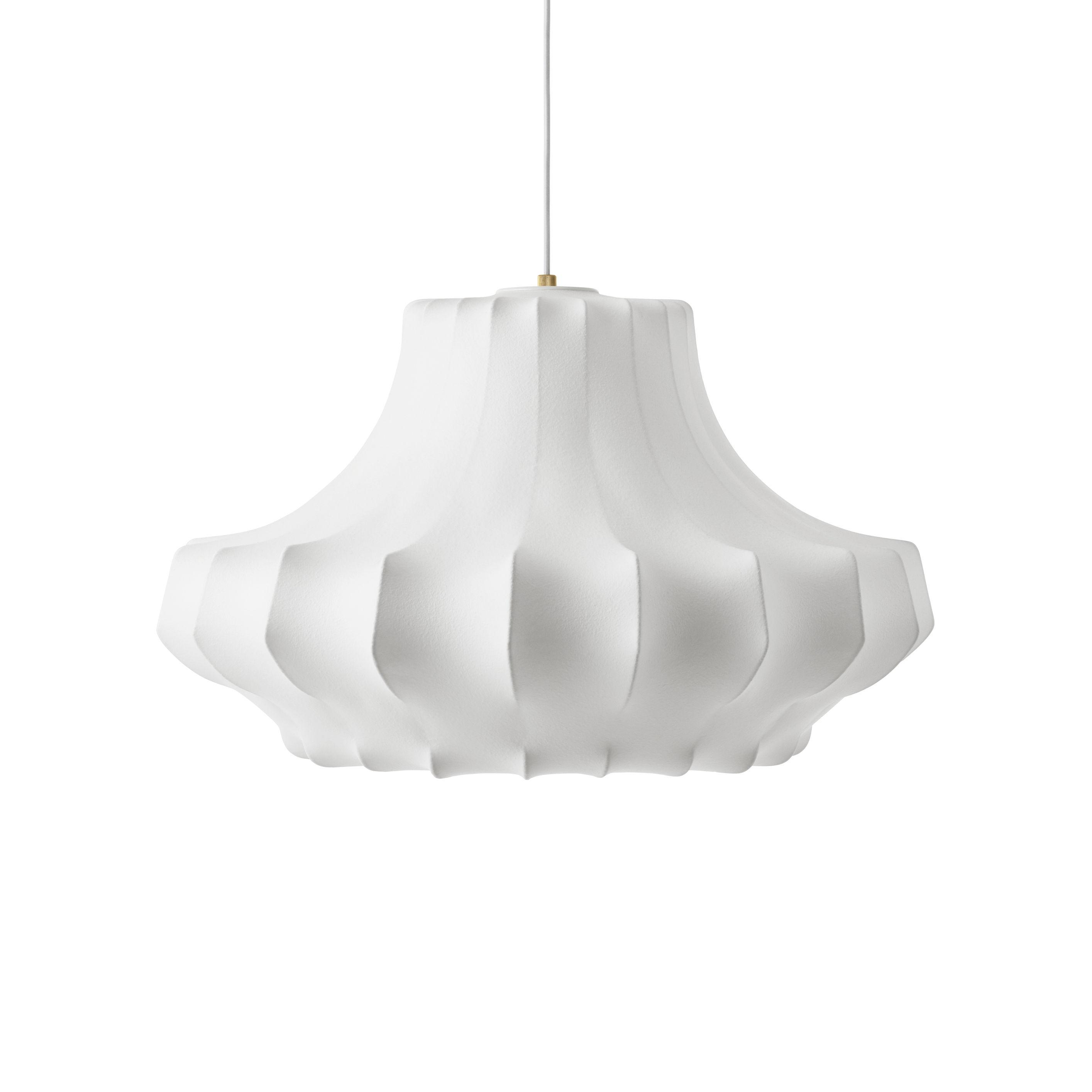 Illuminazione - Lampadari - Sospensione Phantom Medium - / Ø 80 x H 44 cm - Resina cocon di Normann Copenhagen - Bianco - Acciaio, Résine cocon