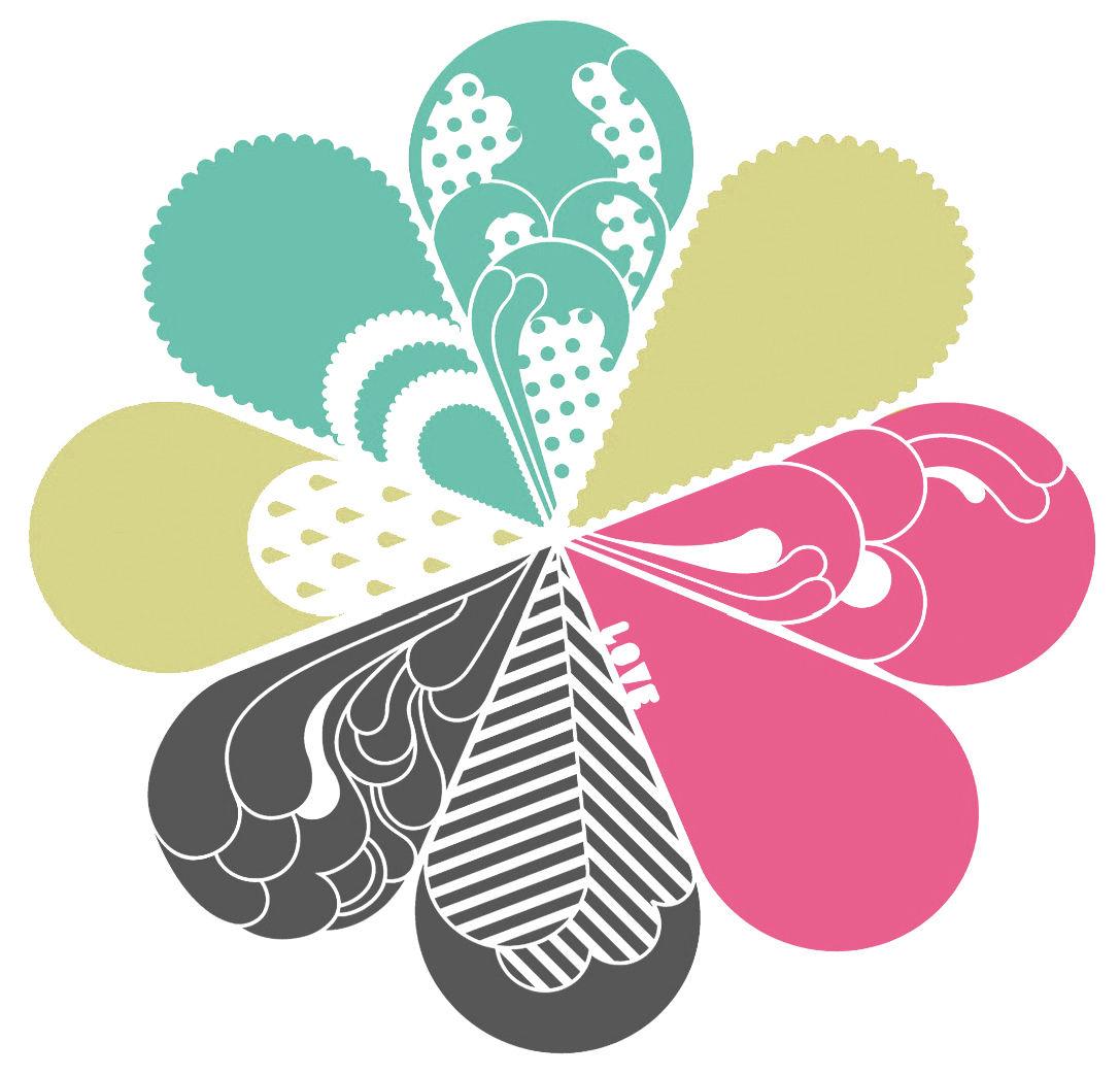 Dekoration - Stickers und Tapeten - Love silver Sticker - Domestic - Silber - gelb - grün - rosa - Vinyl
