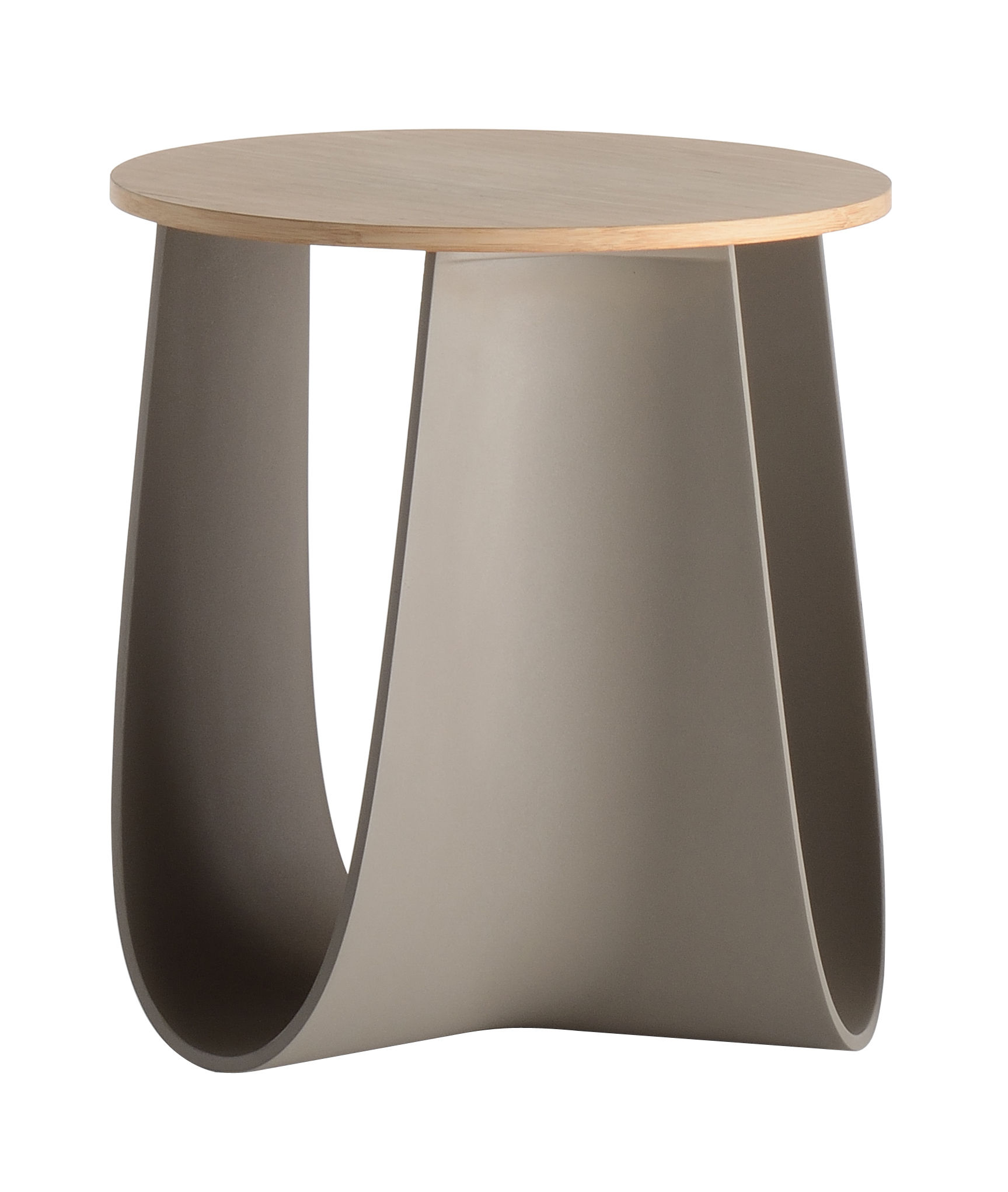 Furniture - Coffee Tables - Sag Stool - Table H 43 cm / Bamboo seat by MDF Italia - Taupe / Bamboo - Bamboo plywood, Polyurethane