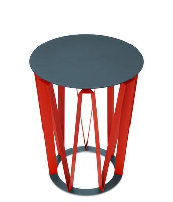 Table d´appoint Arlette / Ø 37 x H 48 cm - Métal - Presse citron rouge,granit en métal