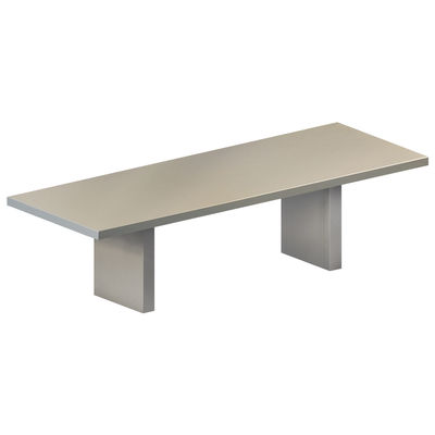 Table rectangulaire Tommaso OUTDOOR / 230 x 90 cm - Acier peint - Zeus gris ciment en métal