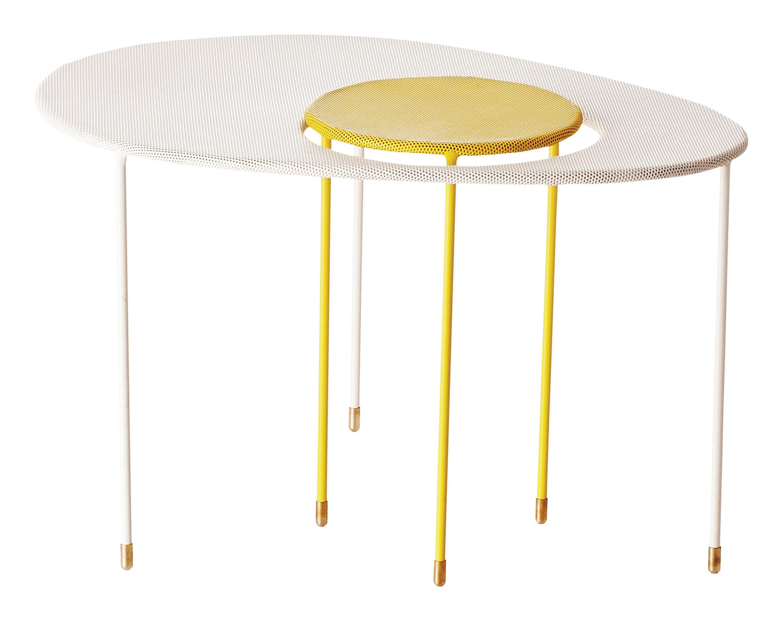 Tables Gigognes Kangourou Matégot Set De 2 Réédition 50 Blanc