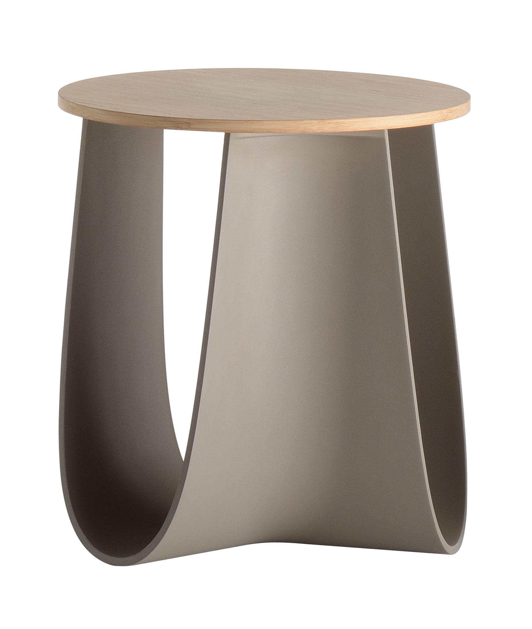 Mobilier - Tables basses - Tabouret Sag / Table H 43 cm - Assise bambou - MDF Italia - Taupe / Bambou - Contreplaqué de bambou, Polyuréthane