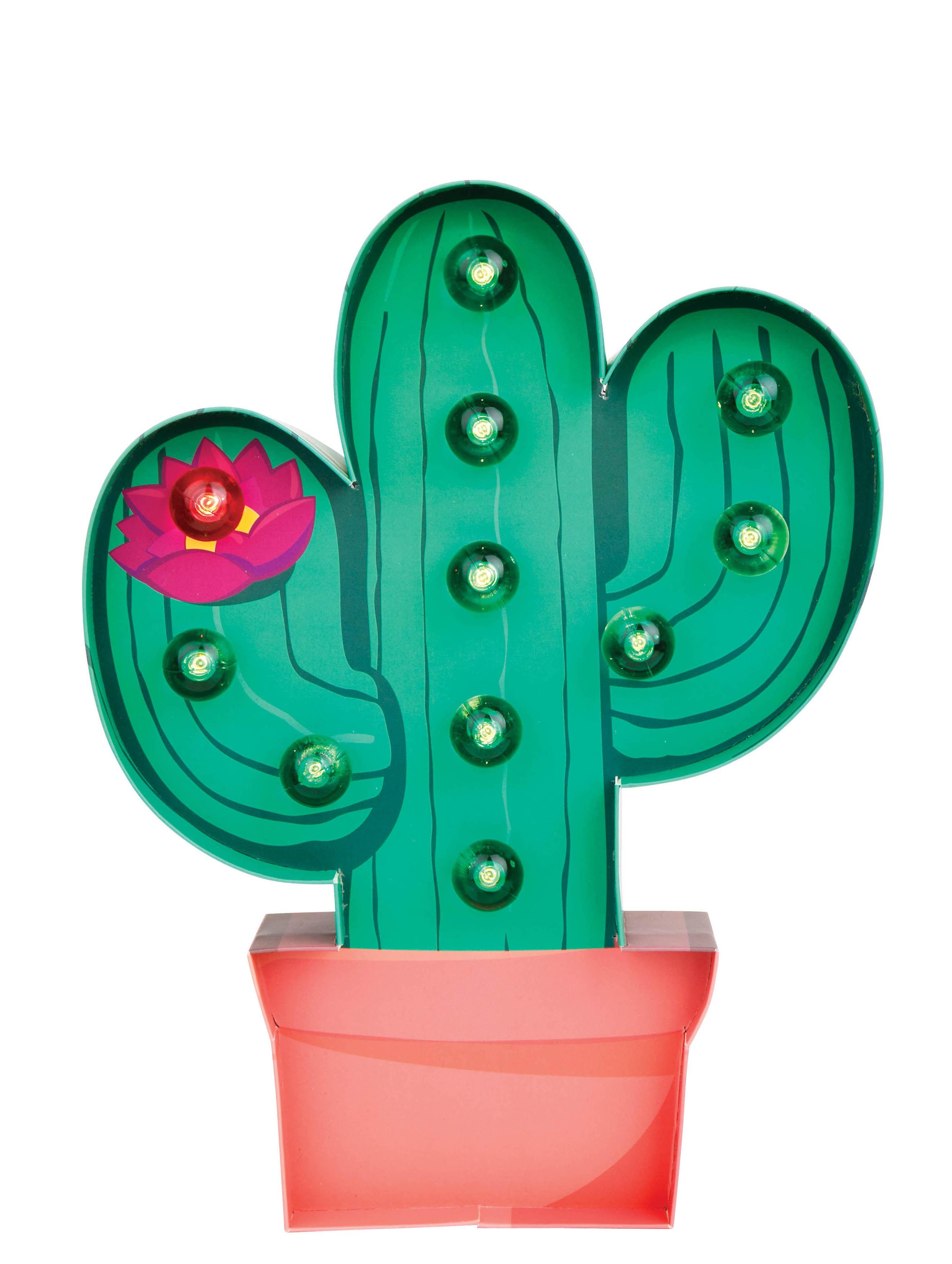 Déco - Pour les enfants - Veilleuse Cactus / Applique - Carton - H 30 cm - Sunnylife - Vert - Carton