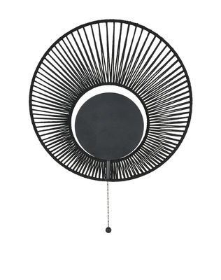 Lighting - Wall Lights - Oyster Wall light - / Ø 40 x H 60 cm by Forestier - Black - Cotton, Metal