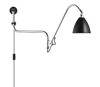 Lighting - Wall Lights - Bestlite BL10 Wall light with plug - Reissue 1930 by Gubi - Black - Chromed metal