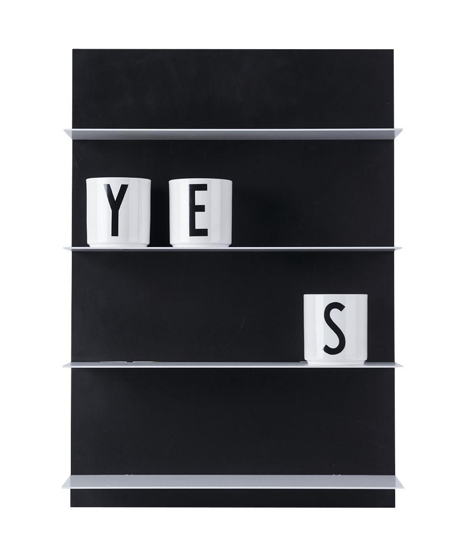 Furniture - Bookcases & Bookshelves - Paper Wall shelves - / L 42 x H 59 cm by Design Letters - Noir - MDF, Steel
