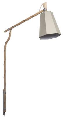 LuXiole Wandleuchte mit Stromkabel zum Befestigen an der Wand - H 223 cm - Designheure - Weiß,Kaki