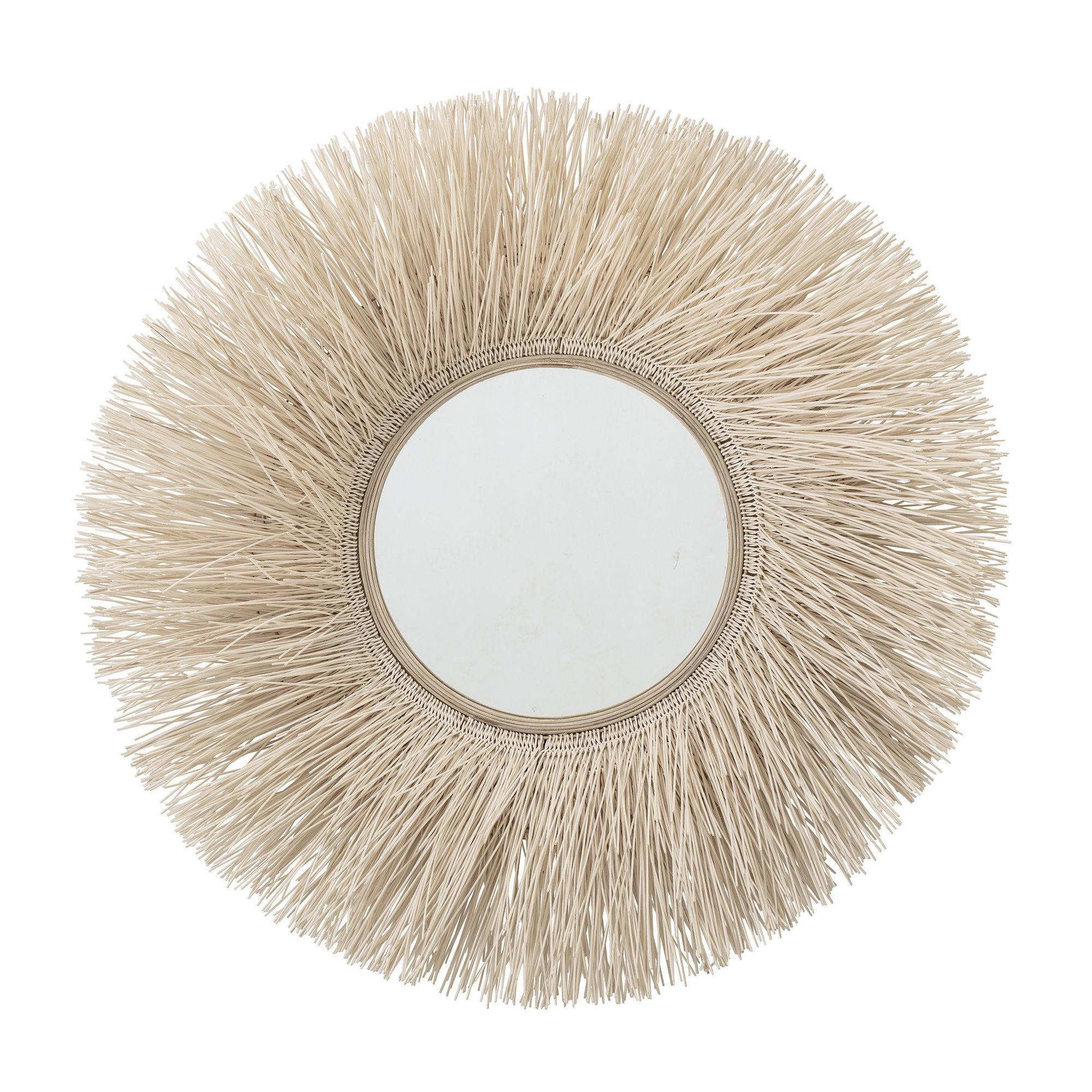 Dekoration - Spiegel - Miroir Wandspiegel / Ø 95 cm - Jute - Bloomingville - Natur - Glas, Jute