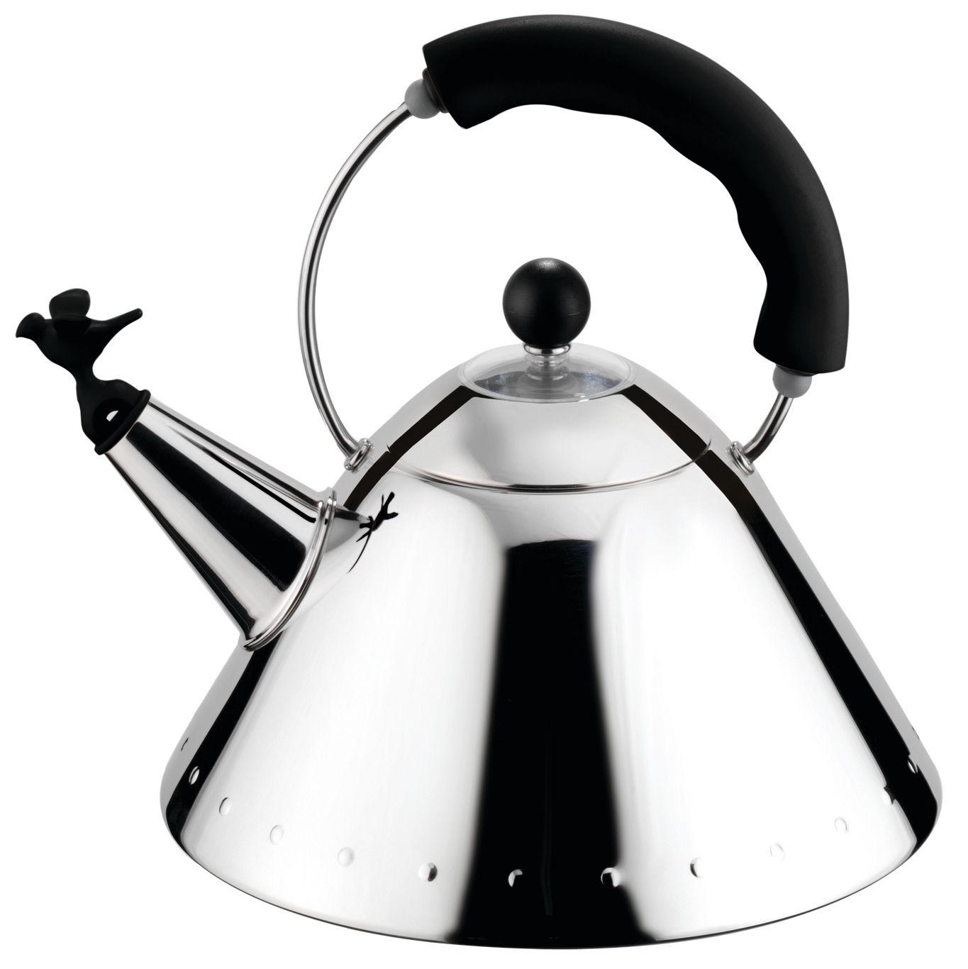 Tischkultur - Tee und Kaffee - Oisillon Wasserkessel - Alessi - Schwarz - Polyamid, rostfreier Stahl