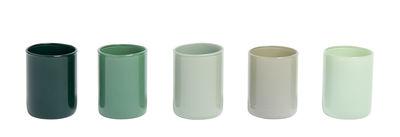 Dekoration - Kerzen, Kerzenleuchter und Windlichter - Spot Windlicht / 5er-Set - Glas - Hay - Grün - Glas