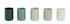 Spot Windlicht / 5er-Set - Glas - Hay