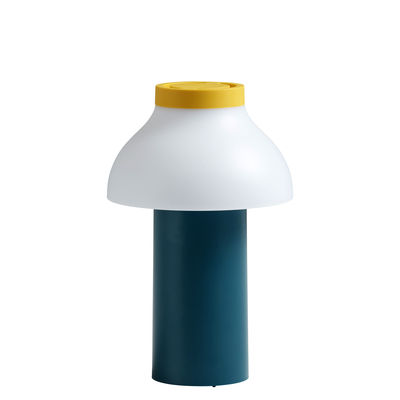 Lighting - Table Lamps - PC Portable Wireless lamp - / For outdoor use - USB charging by Hay - Ocean Green, White & Yellow - ABS, Polypropylene