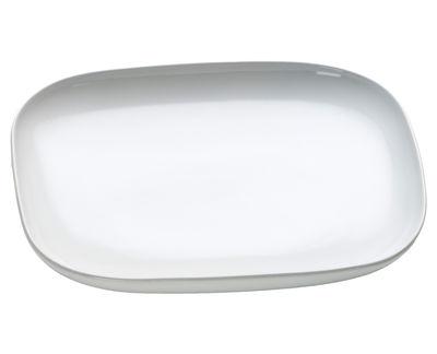 Assiette à dessert Ovale / L 20,5 cm - Alessi blanc en céramique