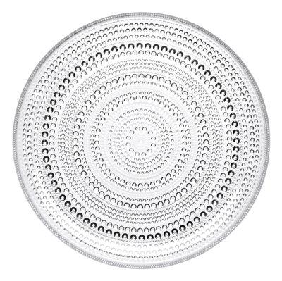 Arts de la table - Assiettes - Assiette Kastehelmi Ø 24 cm - Iittala - Transparent - Verre