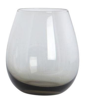 Tavola - Bicchieri  - Bicchiere da acqua Ball - /H 10 cm di House Doctor - Grigio fumé - Vetro soffiato a bocca