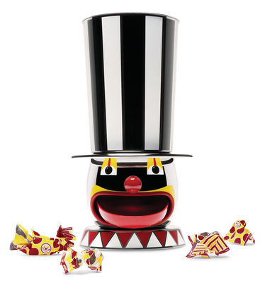 Tableware - Kitchen Accessories - Candyman Candy dispenser - Circus - Numbered limited edition by Alessi - Stainless steel & multicolor - Painted stainless steel
