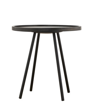 Furniture - Coffee Tables - Juco Coffee table - Ø 50 x H 50 cm by House Doctor - Black / Black legs - Painted iron, Tinted mango wood