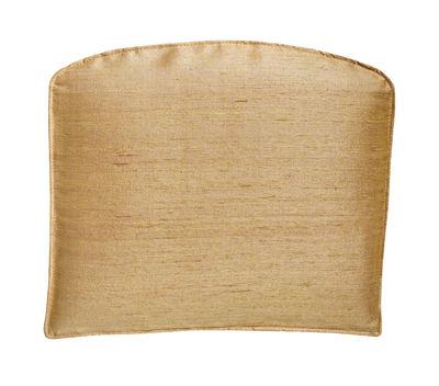 Déco - Coussins - Coussin d'assise Soie / Pour fauteuil Sign Filo - MDF Italia - Or - Ouate de polyester, Polyuréthane, Soie