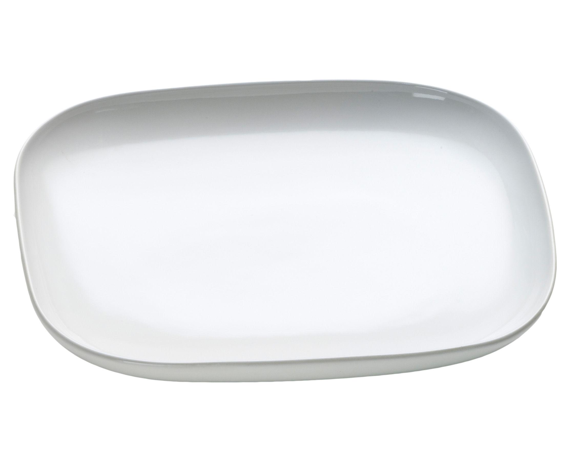 Tischkultur - Teller - Ovale Dessertteller - Alessi - Weiß - Keramik im Steinzeugton
