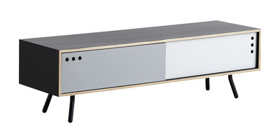 Furniture - Dressers & Storage Units - Geyma Low Dresser - W 140 x H 42 cm by Woud - Black, Grey & White - Lacquered metal, Plywood