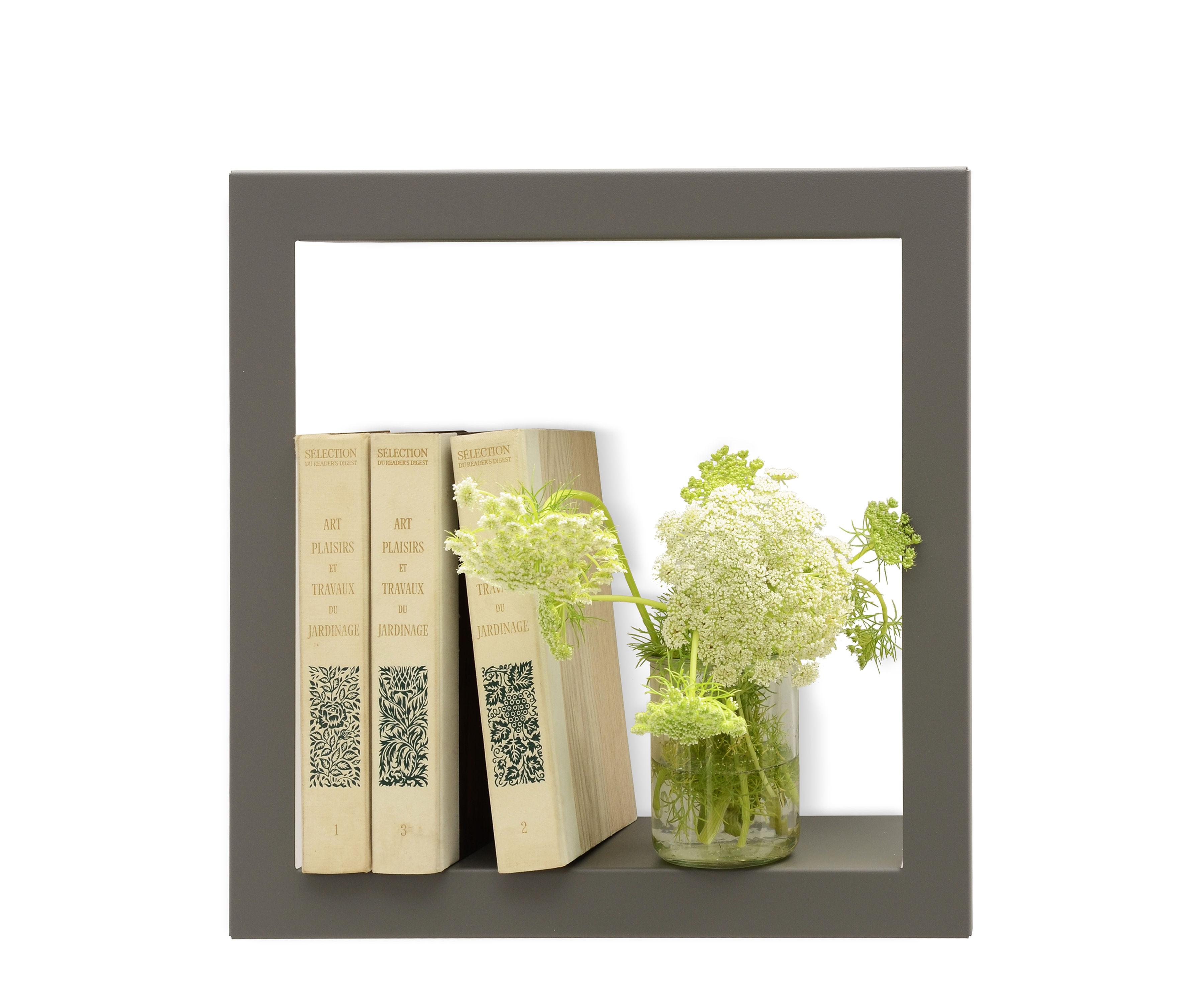 Mobilier - Etagères & bibliothèques - Etagère Bigstick / Métal - L 36 x H 36 cm - Presse citron - Gris - Acier laqué