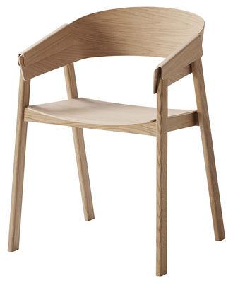 Mobilier - Chaises, fauteuils de salle à manger - Fauteuil Cover / Bois - Muuto - Chêne - Chêne naturel