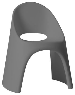 Fauteuil empilable Amélie / Plastique - Slide gris en matière plastique