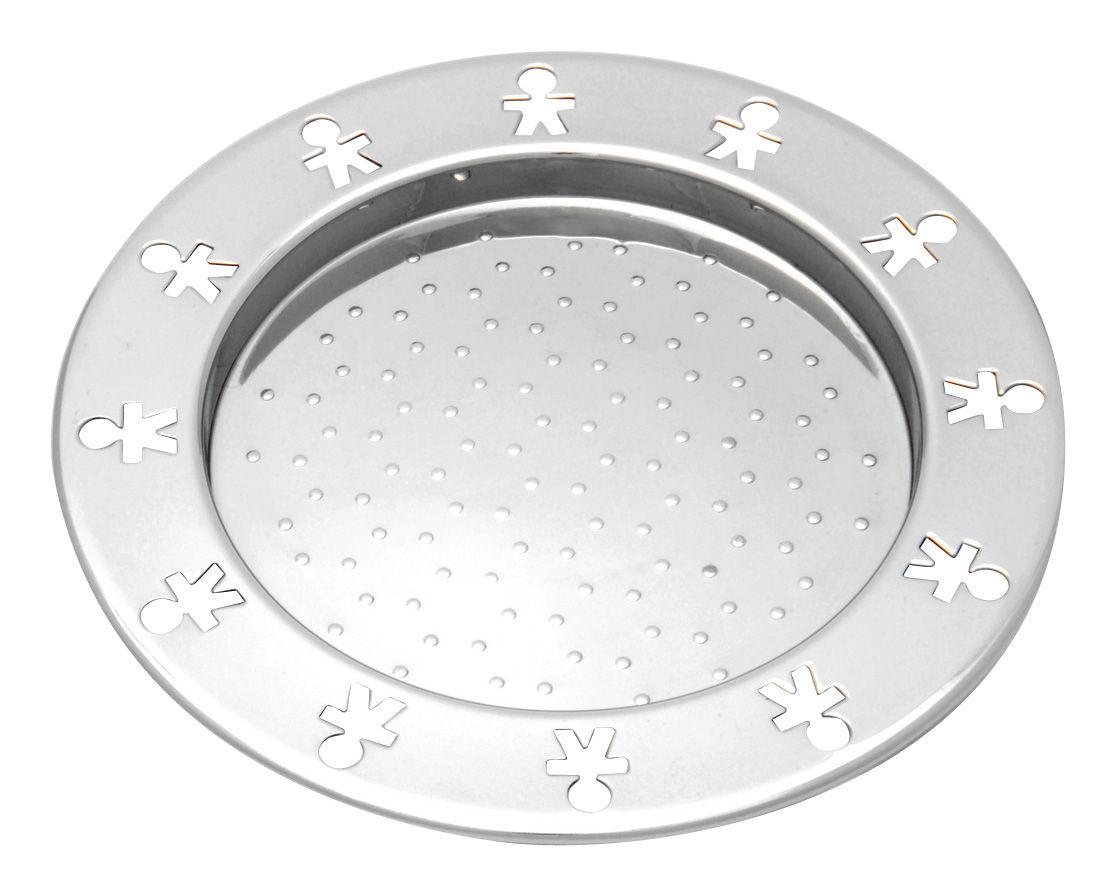 Tischkultur - Praktische Accessoires - Mini Girotondo Flaschenuntersetzer 2-er Set - A di Alessi - Edelstahl glänzend - polierter rostfreier Stahl