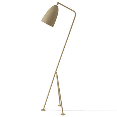 Lighting - Floor lamps - Gräshoppa Floor lamp - / Grossman- 1947 reissue by Gubi - Olive-Brown - Powder coated steel