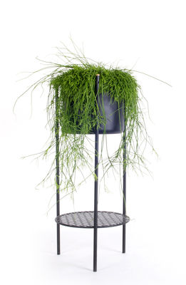 Outdoor - Pots & Plants - Ent Medium Flowerpot - H 78 cm / Metal by XL Boom - H 78 cm / Black - Epoxy lacquered steel