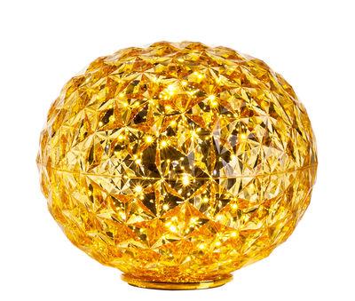 Lampe de table Planet / LED - H 28 cm - Kartell jaune transparent en matière plastique