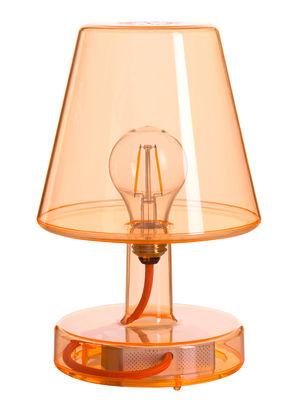 Lampe sans fil Transloetje / LED - Ø 16 x H 25 cm - Fatboy orange transparent en matière plastique
