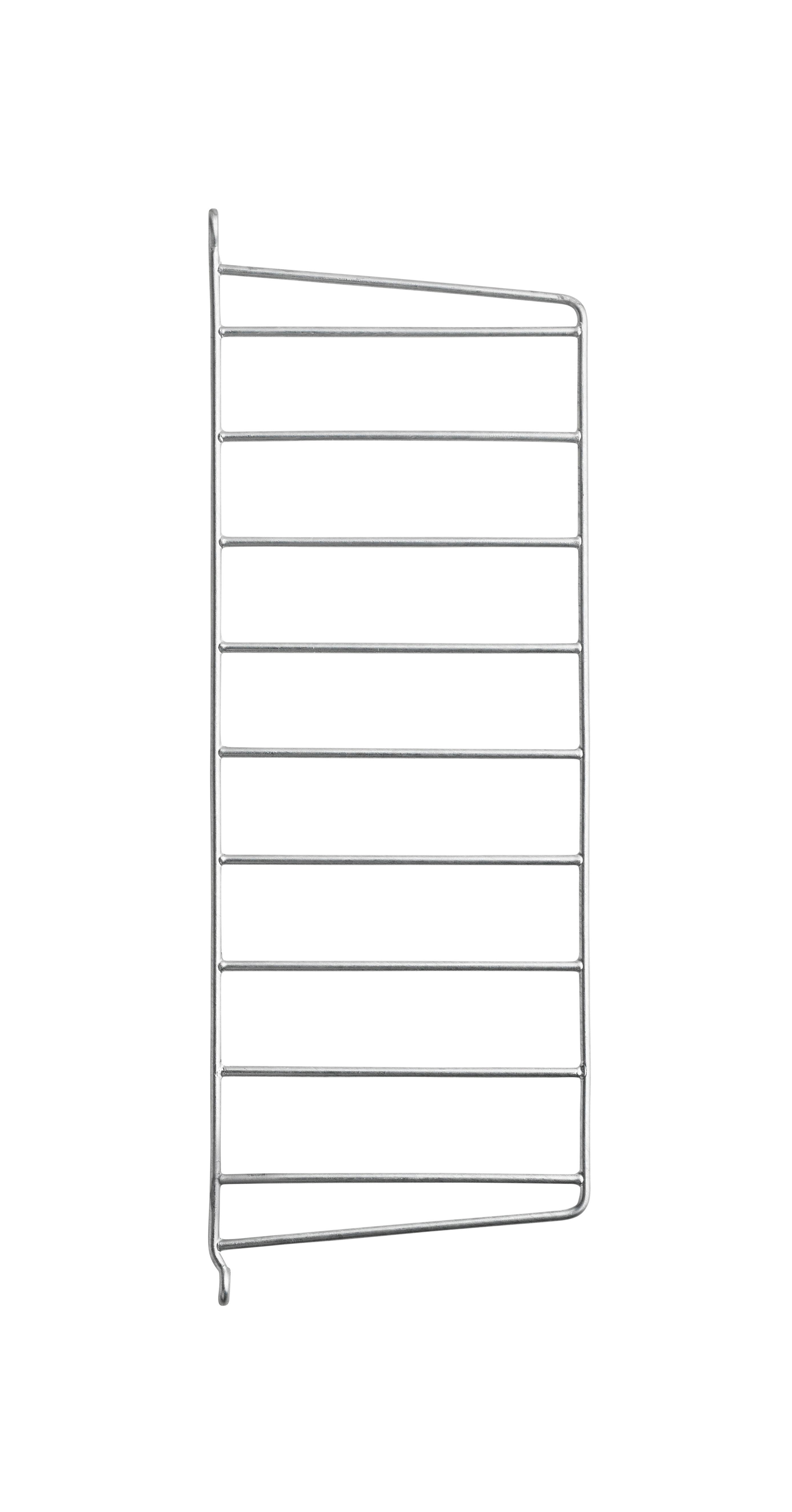 Arredamento - Scaffali e librerie - Montante murale String Outdoor - / Acciaio zincato - H 50 x P 20 cm - ad unità di String Furniture - Unità / Zincato - Acciaio galvanizzato