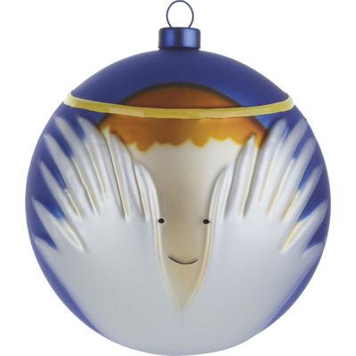 Interni - Oggetti déco - Palle di Natale Angioletto - /L'angioletto di A di Alessi - Angioletto - Blu, Bianco & Dorato - Vetro soffiato a bocca