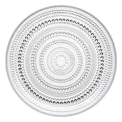 Tableware - Plates - Kastehelmi Plate - Ø 24.8 cm by Iittala - Clear - Glass