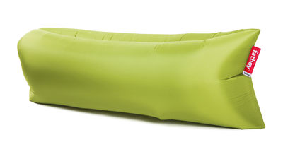 Pouf gonflable Lamzac the Original 2.0 / L 200 cm - Fatboy Pouf gonflé : L 200 x larg. 90 cm x H 50 cm - Pouf plié : L 35 x Ø 18 cm vert lime en tissu