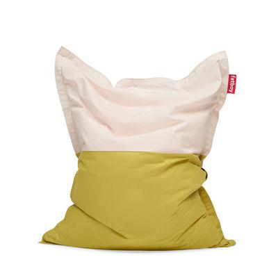 Furniture - Poufs & Floor Cushions - Original Slim Pop Pouf - / Cotton - 155 x 120 cm by Fatboy - Blossom -  Micro-billes EPS, Cotton