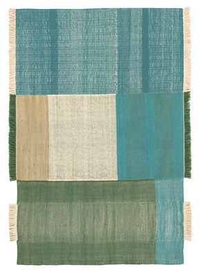 Decoration - Rugs - Tres Rug - 200 x 300 cm by Nanimarquina - Green - Cotton, Felt, New-zealand wool