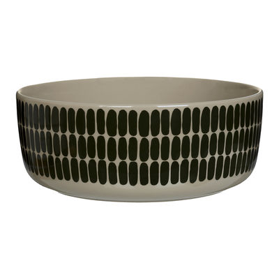 Tableware - Bowls - Alku Salad bowl - / 1.5 L - Ø 20 x H 8 cm by Marimekko - Alku / Green - Sandstone