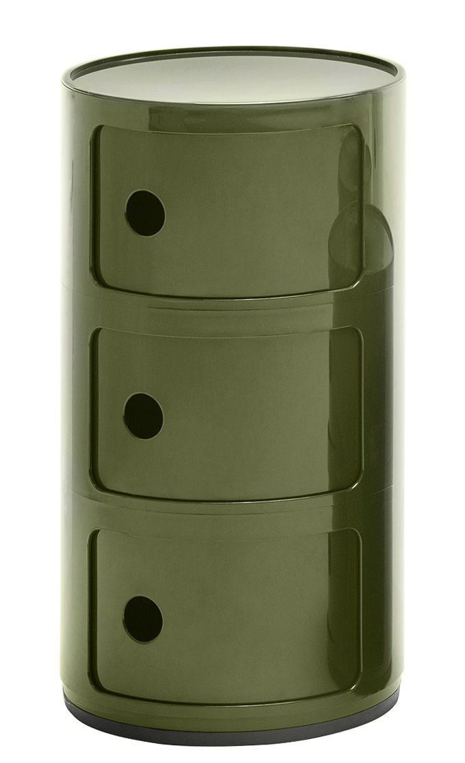 Furniture - Kids Furniture - Componibili Storage - 3 drawers / H 58 cm by Kartell - Green - ABS