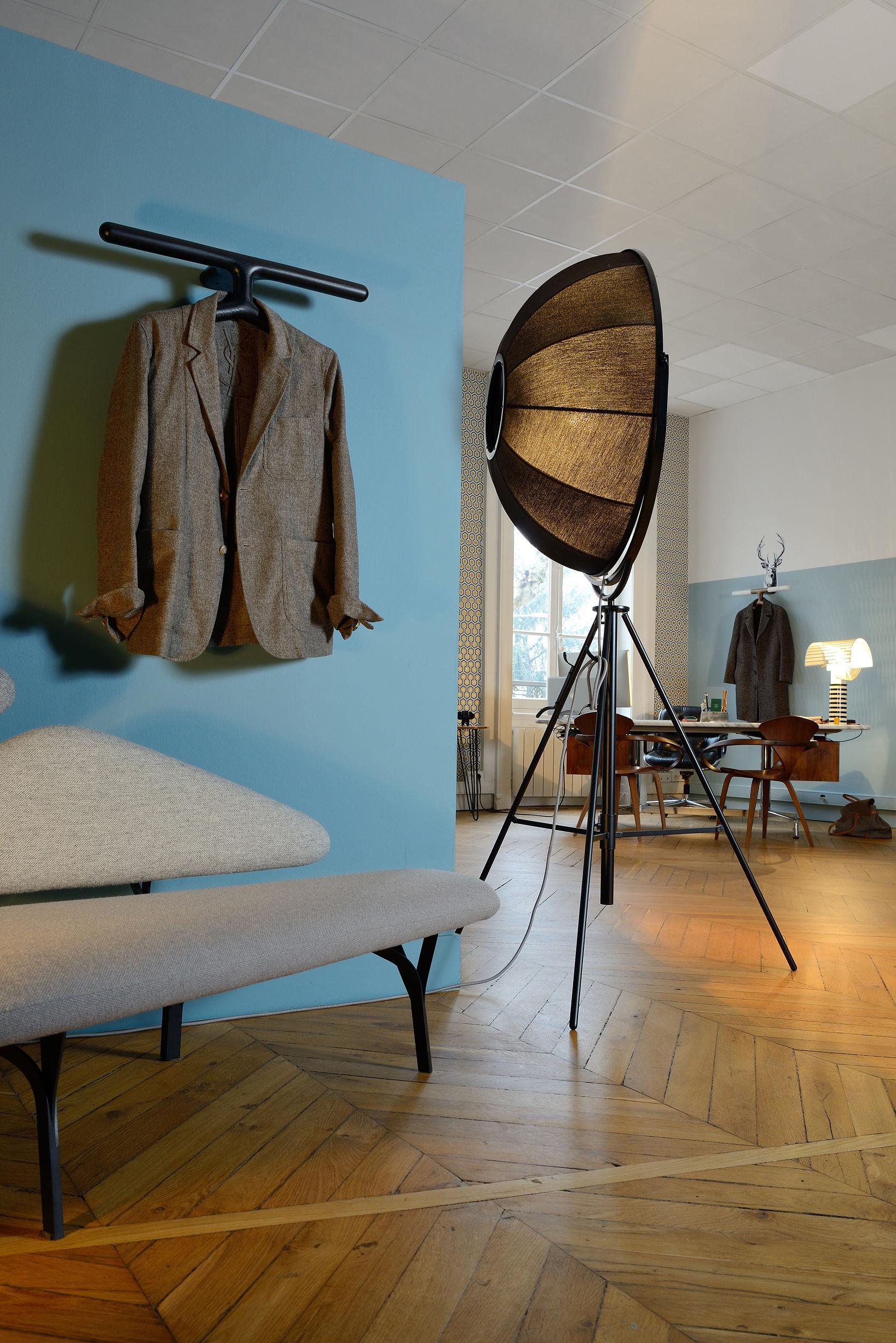 Jeeves garderobe l 62 cm wandbefestigung la chance for Garderobe nussbaum schwarz