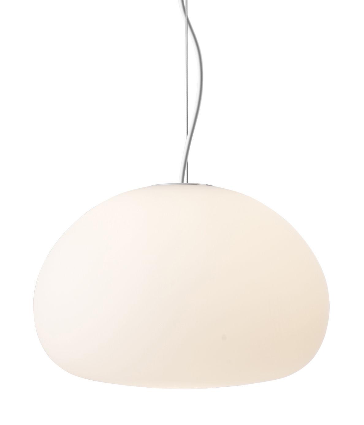 Luminaire - Suspensions - Suspension Fluid Small / ø 23 cm - Muuto - ø 23 cm / Blanc - Verre opalin