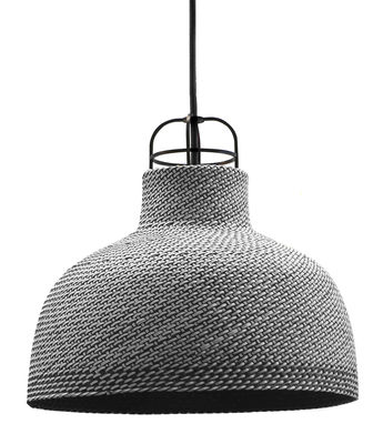 Suspension Sarn 1 / Ø 30 cm - Palme tressée - Spécimen Editions gris en fibre végétale