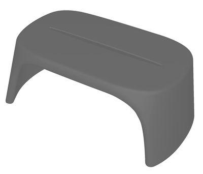 Table basse Amélie / Banc - L 108 cm - Plastique - Slide gris en matière plastique