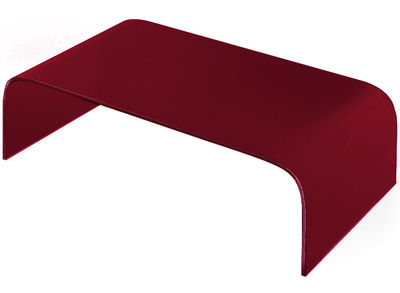 Table basse Curvi 1 L 130 cm - Glas Italia rouge laqué en verre
