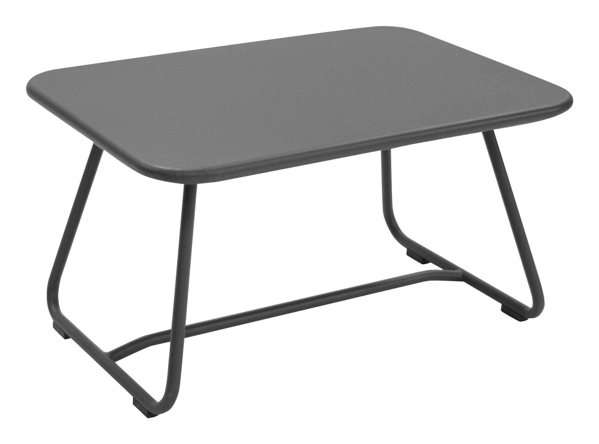 Mobilier - Tables basses - Table basse Sixties / Acier - 75 x 55 cm - Fermob - Gris orage - Acier laqué