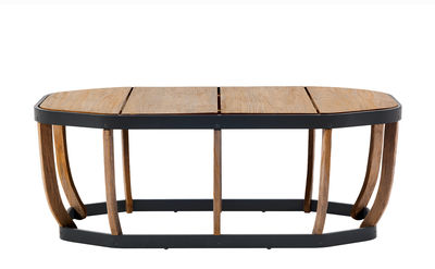 Table basse Swing XL / 110 x 57 cm - Ethimo bois naturel en bois